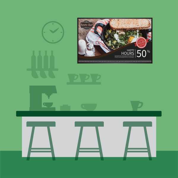 แขวนจอ Digital Signage ไว้หลัง Counter สั่งอาหาร